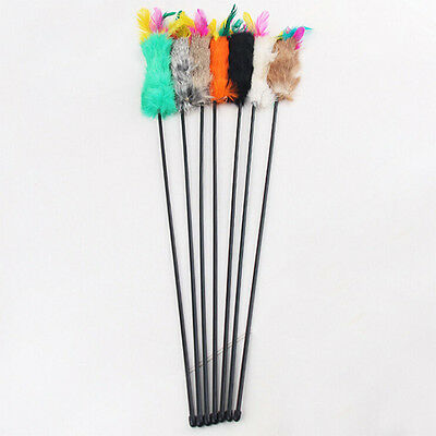 Feather Teaser Baguette cat toys kitten animal Jouer plaisir Colorful 55cm