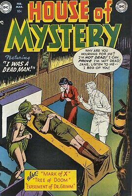House of Mystery 02 Comic Book Cover Art Giclee Reproduction on Canvas