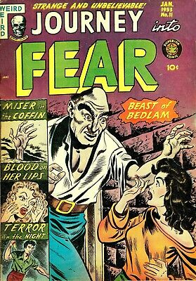 Journey Into Fear 11 Comic Book Cover Art Giclee Reproduction on Canvas