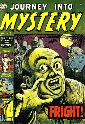 Journey Into Mystery 05 Comic Book Cover Art Giclee Reproduction on Canvas