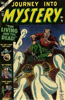 Journey Into Mystery 13 Comic Book Cover Art Giclee Reproduction on Canvas