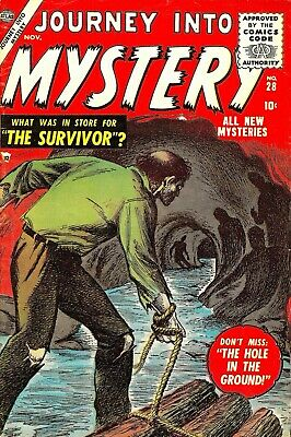 Journey Into Mystery 28 Comic Book Cover Art Giclee Reproduction on Canvas