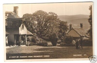 england Somerset postcard selworthy green