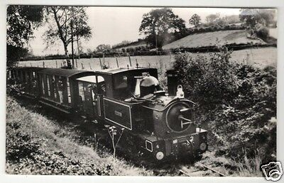 wales welsh postcard welshpool & llanfair light railway train the countess