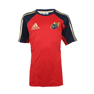adidas Performance Munster Rugby Union Perf Tee Navy / Red / Gold Youth rrp£35