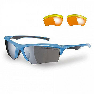 Sunwise Odyssey Blue Sunglasses With 4 Interchangeable Lenses
