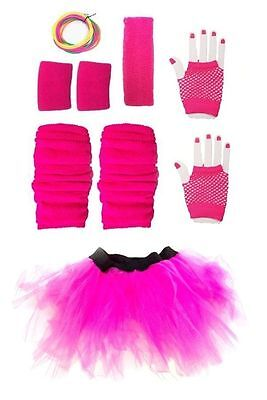 Neon Pink Accessories - Fancy Dress Costume Party Outfit 80s 80's