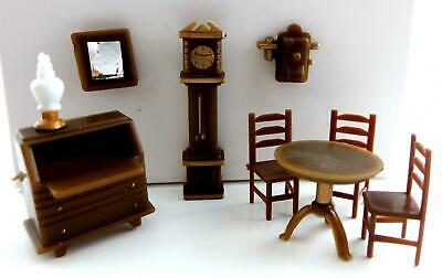 Melody Jane Dolls Houses Miniature 1:48 Plastic Study Office Furniture Set