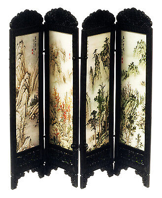 Dollhouse Miniature - Privacy Screen Room Divider of Chinese Mountains