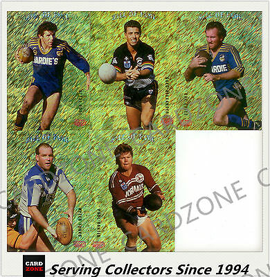 1995 Dynamic Rugby League Winfield Cup Hall of Fame Cards Full Set (5)-Rare!