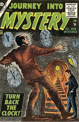 Journey Into Mystery 35 Comic Book Cover Art Giclee Reproduction on Canvas