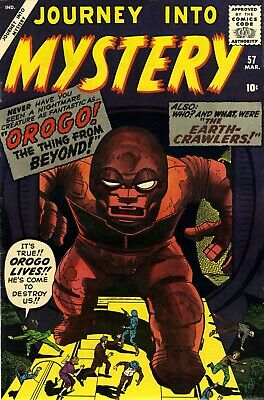 Journey Into Mystery 57 Comic Book Cover Art Giclee Reproduction on Canvas