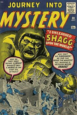 Journey Into Mystery 59 Comic Book Cover Art Giclee Reproduction on Canvas