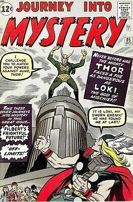 Journey Into Mystery 85 Comic Book Cover Art Giclee Reproduction on Canvas