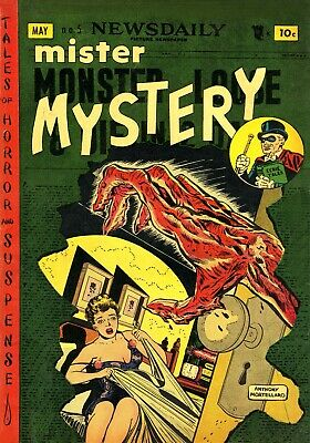 Mister Mystery 05 Comic Book Cover Art Giclee Reproduction on Canvas