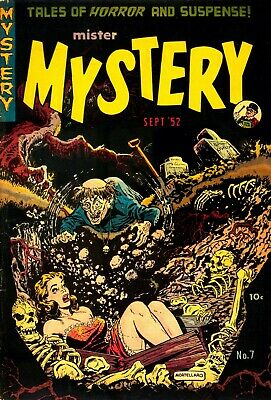 Mister Mystery 07 Comic Book Cover Art Giclee Reproduction on Canvas