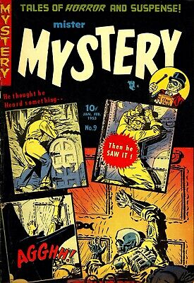 Mister Mystery 09 Comic Book Cover Art Giclee Reproduction on Canvas