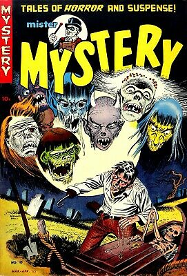 Mister Mystery 10 Comic Book Cover Art Giclee Reproduction on Canvas