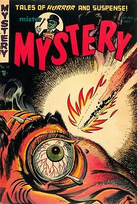 Mister Mystery 12 Comic Book Cover Art Giclee Reproduction on Canvas