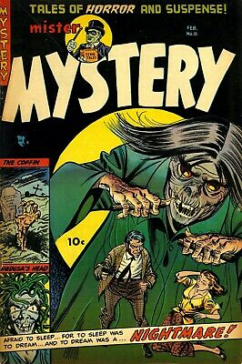 Mister Mystery 15 Comic Book Cover Art Giclee Reproduction on Canvas
