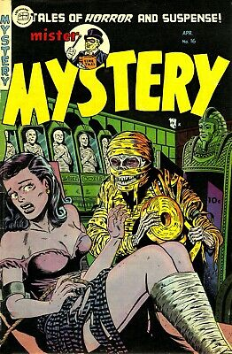 Mister Mystery 16 Comic Book Cover Art Giclee Reproduction on Canvas