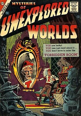 Mysteries of Unexplored Worlds 04 Comic Book Cover Art Giclee Repro on Canvas