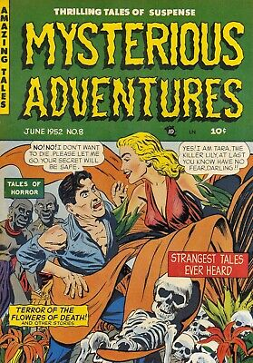 Mysterious Adventures 08 Comic Book Cover Art Giclee Reproduction on Canvas