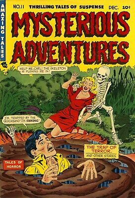 Mysterious Adventures 11 Comic Book Cover Art Giclee Reproduction on Canvas