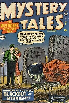 Mystery Tales 05 Comic Book Cover Art Giclee Reproduction on Canvas
