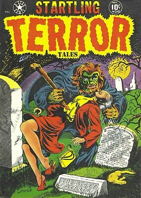 Startling Terror Tales 10 Comic Book Cover Art Giclee Reproduction on Canvas