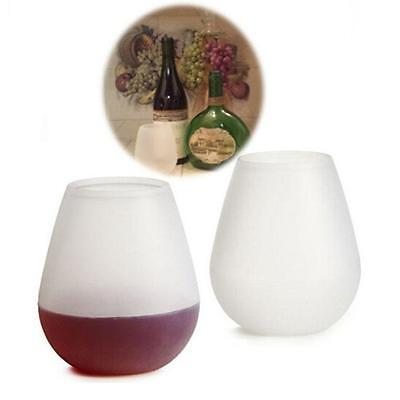 Unbreakable Silicone Wine Glass Outdoor Stemless Beer ey Cups White B