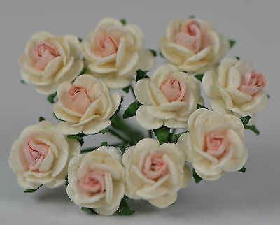 50 OFF WHITE BABY PINK ROSE (1 cm) Mulberry Paper for weddings crafts cardmaking