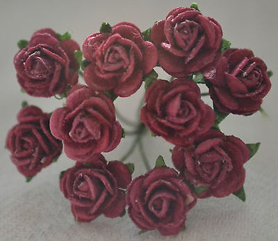 50 BURGUNDY ROSE (1 cm) Mulberry Paper for weddings crafts cardmaking