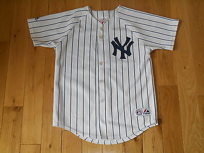 5946cf4b3b3 Majestic JOHNNY DAMON NEW YORK YANKEES  18 Youth MLB Team Stitched JERSEY  Sz Med