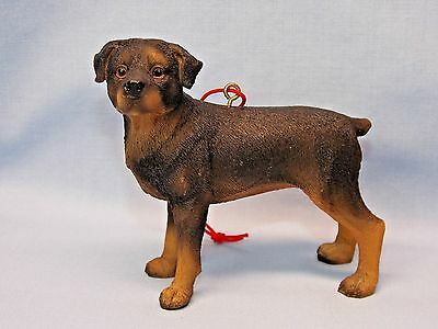 Standing Rottweiler Dog Resin Material Christmas Tree Ornament 3 x3 Inch New