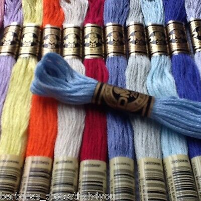 2 - 61 Dmc Cross Stitch Threads Skeins - Pick Your Own Colours Free Pp