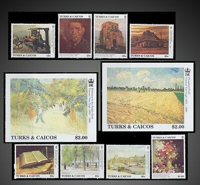 1991 Turks & Caicos Islands Paintings By Vincent Van Gogh