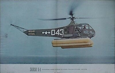 1945 Sikorsky Sr-4 Helicopter Air Trails Poster