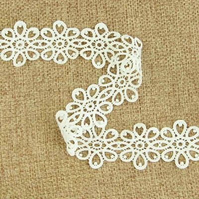 3 Yard DIY White Lace Trim Trimmings Embroidery Sewing Craft Costume Decor New