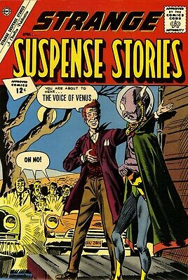Strange Suspense Stories 58 Comic Book Cover Art Giclee Reproduction on Canvas
