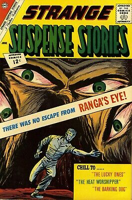 Strange Suspense Stories 59 Comic Book Cover Art Giclee Reproduction on Canvas