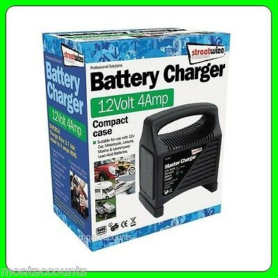 12V  4 Amp Automotive Battery Charger [SWCBC4] Automatic