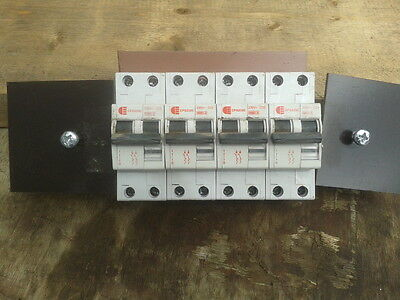 4 x RCD SWITCH TO FIT SITE TRANSFORMER IN GWO 2 X 20 AMP 2 X 32 AMP