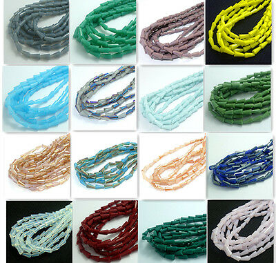 New 72pc Faceted Crystal glass jade Teardrop Loose Spacer Beads 4x8mm wholesale