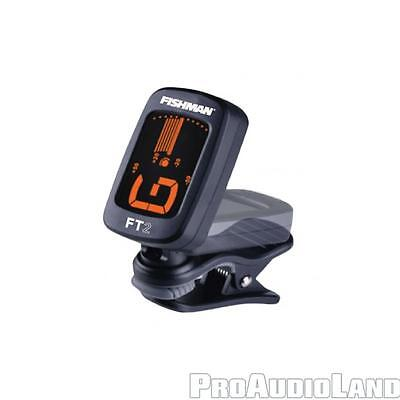 FISHMAN FT-2 FLIP-ON TUNER Clip-on Tuner for Stringed Instruments