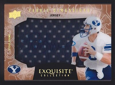 2014 Exquisite Collection Dimension Jersey #DJ-SY Steve Young Auto BYU Cougars