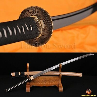 Damascus Steel Full Tang Katana Handmade Japanese Samurai Sword Battle Ready 41""