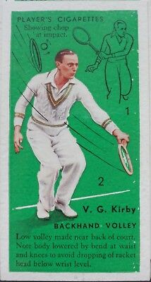 Single: No.35 V G KIRBY, LOW BACKHAND VOLLEY - TENNIS John Player 1936