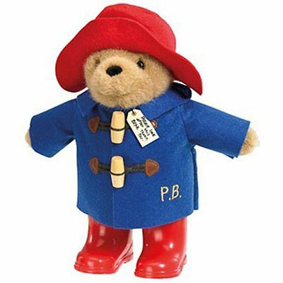 "Paddington Bear Plush Toy With Wellington Boots 8.5"" Licensed Rainbow Designs"