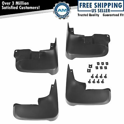 OEM PT76908040 Mud Flap Splash Guard Set of 4 Black for 04-10 Toyota Sienna New